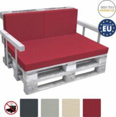 Beautissu Rugkussen Palletkussen ECO Pure 2 -delig 60x40cm rood