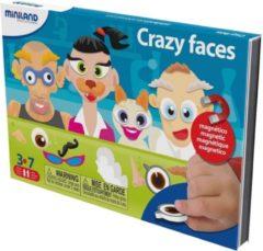 Miniland ZZZML Taal: CRAZY FACES, magnetisch spel voor op reis, 3+