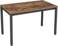 MIRA home MIRA - Tafel| Bureau| eettafel | Kantoor | Vintage | Staal| Bruin | Zwart