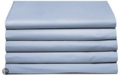 Cinderella Basic percaline katoen laken - 100% percaline katoen - 2-persoons (200x260 cm) - Blauw, Sapphire