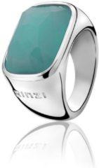 Turquoise Zinzi - Zilveren Ring - Maat 56 ZIR675-56