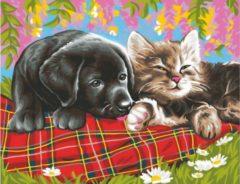 K.S.G Junior Paintings Schilderen op nummer Vrienden