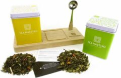 Dutch Tea Maestro - thee cadeau - losse thee - groene thee op thee plateau - origineel cadeau