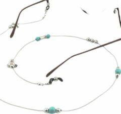 Brillenkoord-Turquoise- Vogeltje-Charme Bijoux