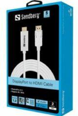 Sandberg DisplayPort 1.2-HDMI 4K M-M 2m