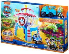 PAW Patrol, Dino Rescue-hoofdkwartierspeelset met geluiden en exclusief Rex-figuur en -voertuig