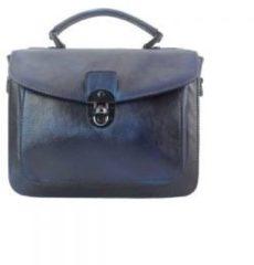 San Lorenzo Firenze Borsa a mano Montaigne in pelle invecchiata Blu scuro Made in Italy produzione di pelletteria toscana