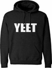 Zwarte Gildan Hoodie sweater | YEET | Black | Maat XXL