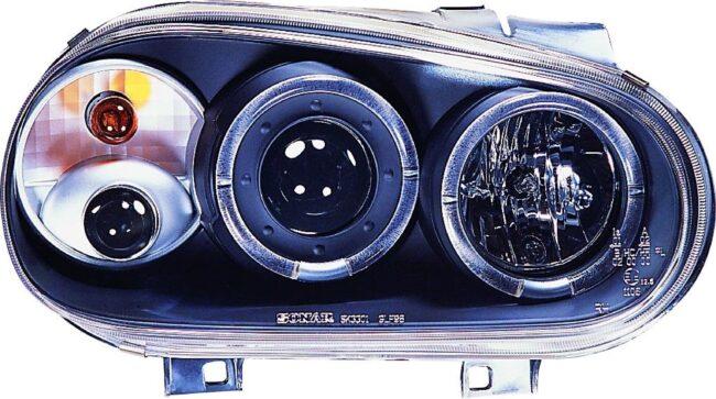 Afbeelding van Universeel Set Koplampen Volkswagen Golf IV 1998-2003 - Zwart - incl. Angel-Eyes & Mistlampen