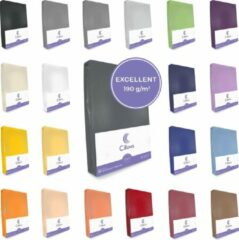 Antraciet-grijze Cillows Excellent Jersey Hoeslaken voor Matras - 180x200 - 200x220 cm - (tot 35 cm hoogte) – Antraciet