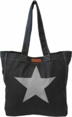 Ralp Boyer Canvas Shopper Ster Zwart - Ralph Boyer - Lichtgewicht - Canvas - Shopper - Lange Handvatten