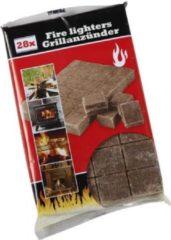 Merkloos / Sans marque Barbecue/BBQ aanmaakblokjes 56 stuks - aansteek/aansteken blokjes setje