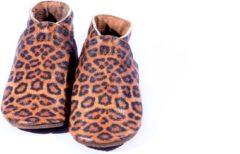 Bruine CAROUSEL CALENDARS Baby Dutch - babyslofjes - tijgerprint