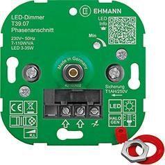 Ehmann LED Dimmer T37.08 5-100W/VA Fase Aansnijding