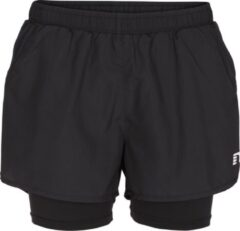 Zwarte Newline Base 2 Layer Shorts 13748-603 - Hardloopbroek - Dames - Black - Maat M