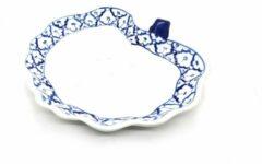 Blauwe DeSfeerbrenger Thais bord - Schaal - Thais servies - Handgeschilderd - Pineapple patroon - Ananaspatroon 23 cm (2 stuks)