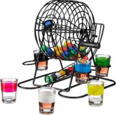 Relaxdays drankspel bingo - drinkspelletje - 6 glaasjes - drankspelletje - 48 balletjes
