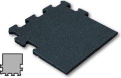 Sporttrader Rubber Tegel - Zijstuk - Puzzelsysteem - 50 x 50 x 5 cm - Zwart