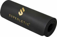 Zwarte Capital_sports CAPITAL SPORTS Superletic Deva gymnastiekmat 180 x 1,0 x 60 cm - fitnessmat - NBR-schuimstof - slipvrij - incl. draagriem