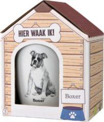 Witte Paper dreams Mok - Boxer – Dier – Puppy – Hond – Dieren – Mokken en bekers – Keramiek – Mokken - Porselein - Honden – Cadeau - Kado