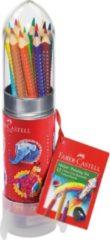 Faber Castell Kleurpotlood Faber-Castell GRIP raket met 15 stuks assorti