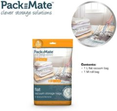 Transparante Packmate Vacuum Flat Bag Set 2 pcs M+L - Reiszakken - Opbergzakken - Space savers