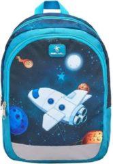 Belmil rugzak met ruimteschip junior 12 liter polyester blauw