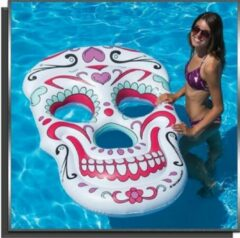 Witte Poolstyle Zwembad drijvend luchtbed masker
