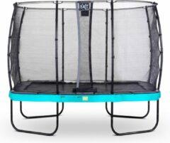 EXIT Elegant trampoline met veiligheidsnet Economy rechthoekig - 214 x 366 cm - blauw