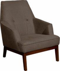 TOM TAILOR Sessel »COZY« im Retrolook, mit Kedernaht und Knöpfung, Füße nussbaumfarben