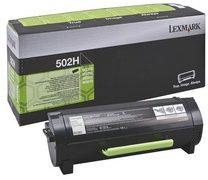 Lexmark 50F2H00 nr. 502H toner cartridge zwart hoge capaciteit (origineel)