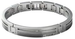 Zilveren Fossil Men's Dress JF84476040 Heren Armband - 180 mm