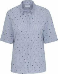 Lichtblauwe Seidensticker overhemd bloes dames Polkadot mt.40