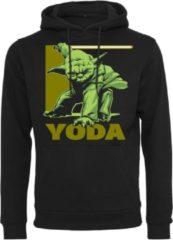 Zwarte Merchcode Star Wars - Yoda - Master - Jedi - Teacher Star Wars - Yoda - Streetwear - Urban - OldSchool - Modern Heren Hoodie Maat S