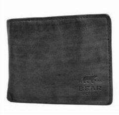 Bear Design Lage Billfold Cow Lavato RFID Zwart