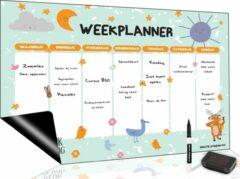 Witte Brute Strength Magnetisch Weekplanner whiteboard (11) - A3 - Planbord - Dagplanner kind - To Do Planner kinderen