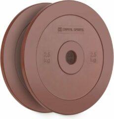 Capital_sports Methoder Techniekschijf Gewichtsplaten Rubber Paar 2,5 kg rood
