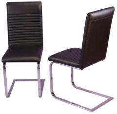 Möbel direkt online Moebel direkt online Schwingstuhl 2er-Set Metallstuhl im 2er-Set 2 Polsterstühle Kunstlederbezug schwarz