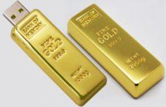 Gouden Famoshop.nl Goldbar - USB-stick - 512 GB