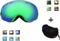 Improducts Ski bril + hard case lens Smoke groen frame Groen F type 5 Cat. 0 tot 4 - ☀/☁ extra lens is optie.