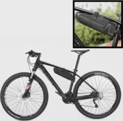 Zwarte Decopatent® PRO Fiets Frametas - Smalle fietstas voor onder fietsframe - Waterdicht - Racefiets - Koersfiets - MTB - Ebike - Fiets