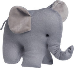 Baby's Only knuffelolifant Sparkle zilvergrijs mêlee knuffel 10 cm