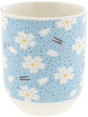 Mok | Ø 6*8 cm / 0.1L | Blauw | Porselein | rond | bloemen | Clayre & Eef | 6CEMU0055