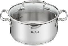 Zilveren Tefal Duetto + Pannenset - 4 delige kookset - Geschikt voor alle warmtebronnen, ook inductie