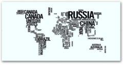 Witte VidaXL Bureau met wereldkaart opdruk (rechthoekig)