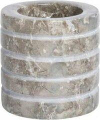 PTMD COLLECTION PTMD Marmer Waxinelichthouder - Theelicht - Grijs - 3 stuks