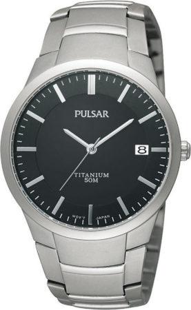 Afbeelding van Grijze Pulsar Titanium Ps9013X1 - Horloge - 37 mm - Zilverkleurig