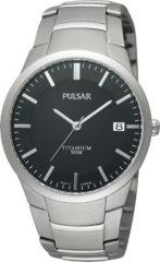 Grijze Pulsar Titanium Ps9013X1 - Horloge - 37 mm - Zilverkleurig