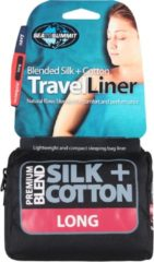Sea to Summit - Silk/Cotton Travel Liner - Reisslaapzak maat Long (Rectangular) blauw