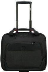 "Zwarte Delsey Parvis One Compartment Trolley Boardcase 15.6"" black Pilotenkoffer"